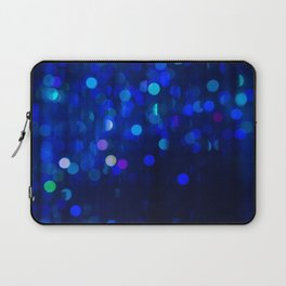 Blue Bokeh Laptop Sleeve