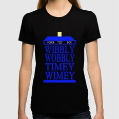 TARDIS Womens Fitted Tee SMALL Black