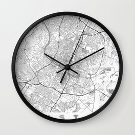 Austin Map Line Wall Clock