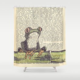Frog-E-Doodle Shower Curtain