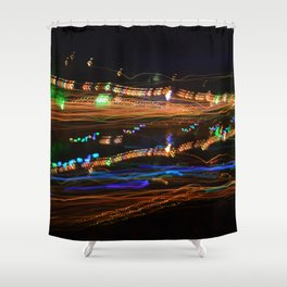 Derwent River Light Trails 1 Shower Curtain