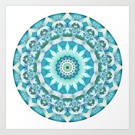 Aquamarine Mandala Art Print