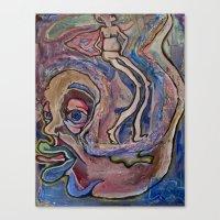 fault Canvas Prints featuring Superman's Fault by Debra Slonim Art & Design