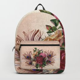 Peacock Feather Bouquet Backpack