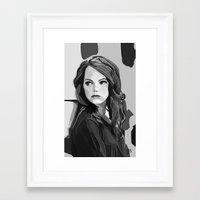 emma stone Framed Art Prints featuring Emma Stone by Vito Fabrizio Brugnola