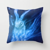 returns Throw Pillows featuring Bluebell Returns by ShadowPaw Pictures