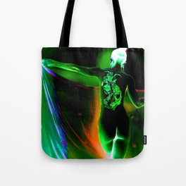 Anonymous Inked Nude 1 (Variation) - Green Sorceress Tote Bag
