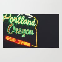 portland Area & Throw Rugs featuring Portland! by Elle Hanley Photography