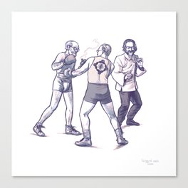 Freud, Jung, and Watts, walk into a bar... Canvas Print