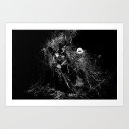 Little Loki and The Jellyfish 2 Art Print