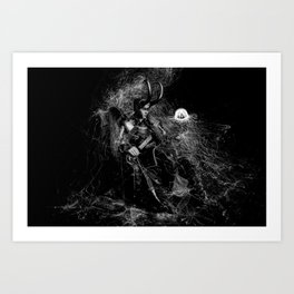 Little Loki and The Jellyfish 2 Art Print