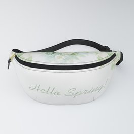 Spring floral watercolor painting & Quote Fanny Pack