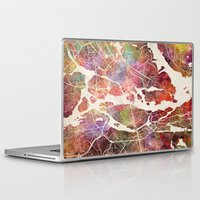 stockholm Laptop & iPad Skins featuring Stockholm by MapMapMaps.Watercolors