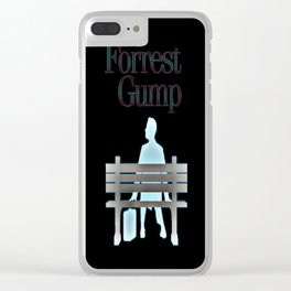 Forrest On The Bench Clear iPhone Case