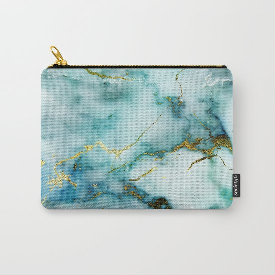 Marble Effect #1 Carry-All Pouch