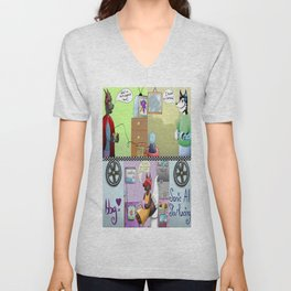Zooming With Friends Unisex V-Neck