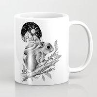 squirrel Mugs featuring SQUIRREL by Thiago Bianchini