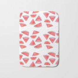 watermelon slices watercolor Bath Mat