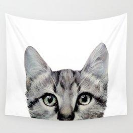 Cat, American Short hair, illustration original painting print Wall Tapestry
