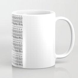 Black & White Hand Drawn Pattern Coffee Mug