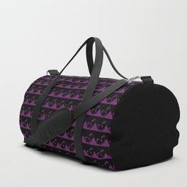 Skull Crush - Black and Purple - Pattern Duffle Bag