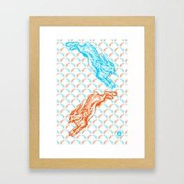 Good hare day Framed Art Print