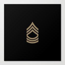 Master Sergeant (Brown) Canvas Print