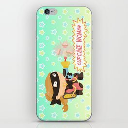 Cupcake woman iPhone Skin