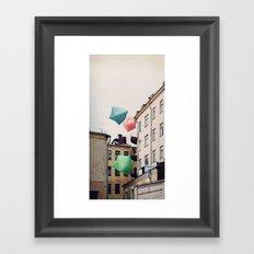 Paper bombies Framed Art Print