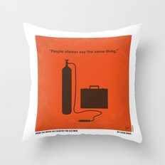 No253 My No Country for Old men minimal movie poster Throw Pillow