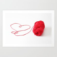 I love yarn Art Print