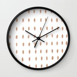 Paint Dabs in Sand Wall Clock