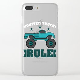 """Monster Trucks Rule"" luxurious and glorious inspired tee design for rider like you! Clear iPhone Case"