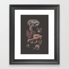 Mashrooms Pattern Framed Art Print
