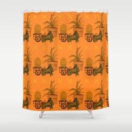 Garden Donkey Shower Curtain