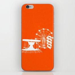 Seaside Fair in Orange iPhone Skin