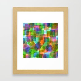 Befriended Squares and Bubbles Framed Art Print