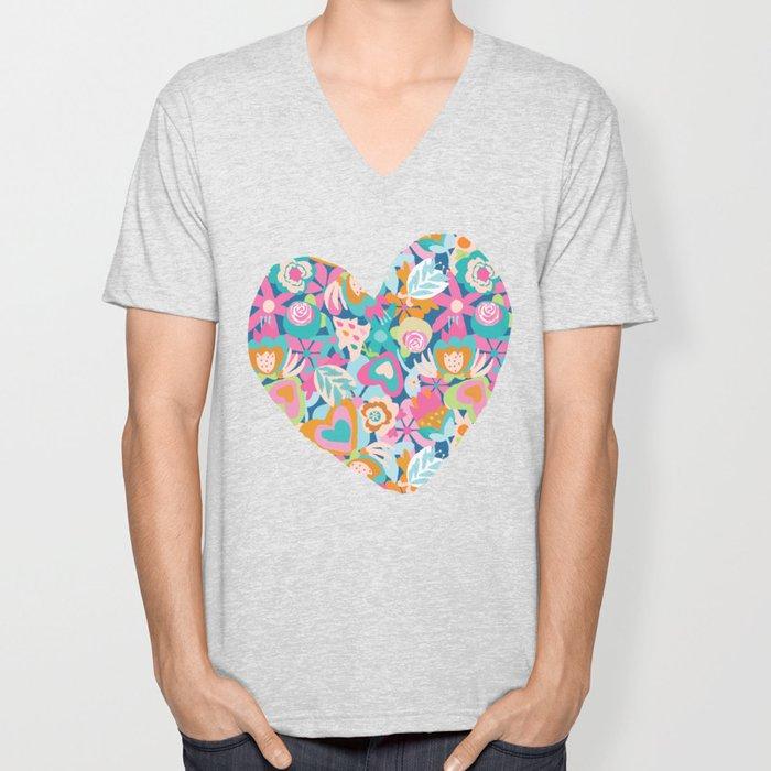 Feeling the love - heart shape Unisex V-Neck