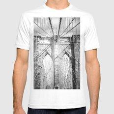 Brooklyn Bridge MEDIUM White Mens Fitted Tee