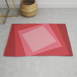 Red squares. Simple geometric background with a light center for your website or business card. Rug
