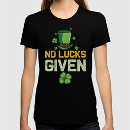 St Patricks Day No Lucks Given Lucky Charm Paddy T-shirt