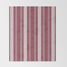 Dark Rose Victorian Lady Stripe Throw Blanket