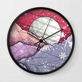 Mountains of Christmas Wall Clock