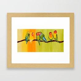 Sweetheart Birds Framed Art Print