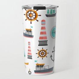 Cartoon Transport Tool Pattern Travel Mug