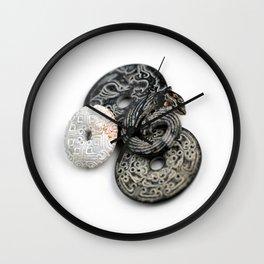 Jade Black And White Wall Clock