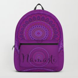 Namaste Mandala Yoga Hindi Symbol Backpack