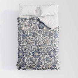 William Morris Navy Blue Botanical Pattern 6 Comforters