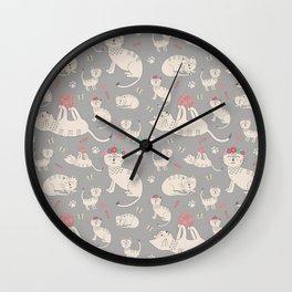 HAPPY CATS Wall Clock