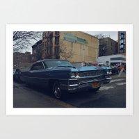 A Classic Cadillac Art Print